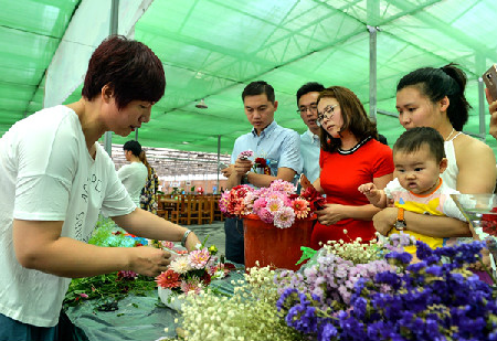 大丽花游乐汇在北京花仙子万花园开幕