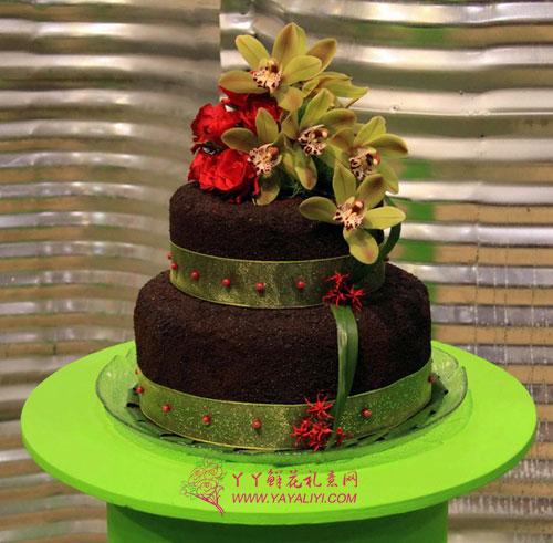 """在位于多伦多的加拿大国家会展中心拍摄的用植物做成的""""蛋糕"""""""