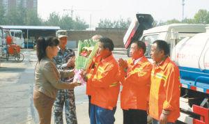 石家庄:五一前送出鲜花 向劳动者致敬