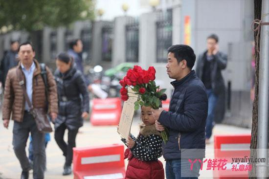 武汉市七岁女童卖花救妹妹