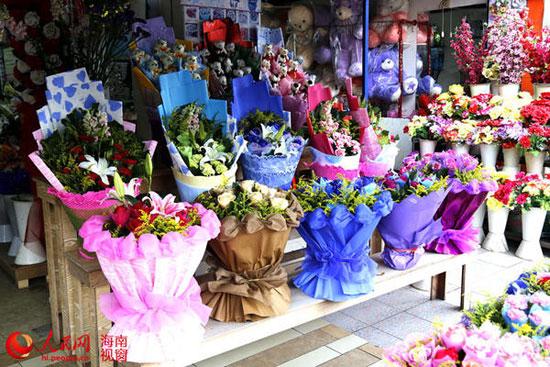 母亲节海口鲜花表露真情 康乃馨热销