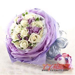 鲜花11朵白玫瑰(平淡最长久)