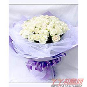 西安同城送花33朵白玫瑰(纯情)