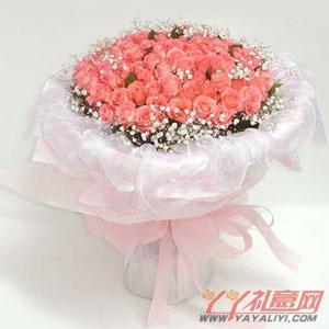 鲜花108枝粉玫瑰(嫁给我吧)