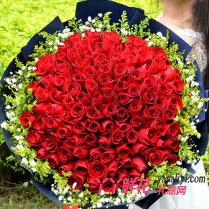 爱你百分百 - 鲜花99朵红玫瑰网上订花