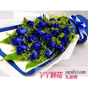 蓝色爱情海 - 鲜花19朵蓝色妖姬