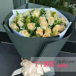 最浪漫的事 - 鲜花19枝香槟玫瑰