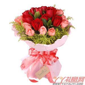 鲜花11朵红玫瑰11朵粉玫瑰送花