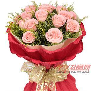 鲜花19枝粉玫瑰鲜花速递(夏之恋)