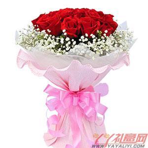鲜花19枝级红玫瑰预订(牵手一生)