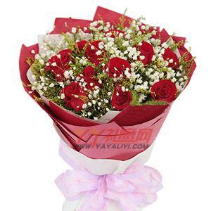 特价鲜花11枝红玫瑰免费送花(简单爱)