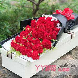 鲜花快递11枝红色康乃馨(母爱赞歌)
