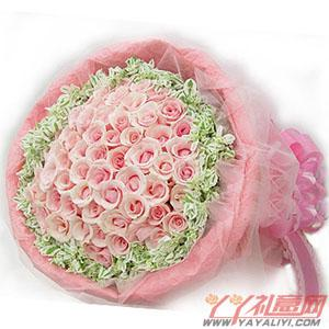 鲜花99枝粉玫瑰