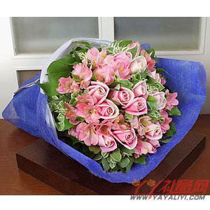 订花12朵粉玫瑰