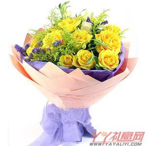 11枝黄玫瑰(青春祝福)