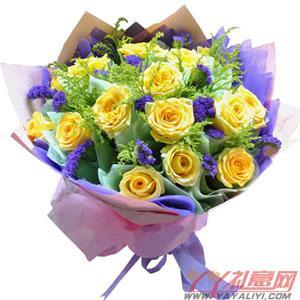 19枝黄玫瑰
