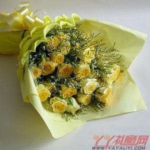 网站订花19枝黄玫瑰