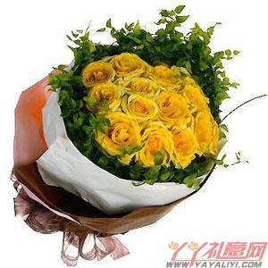 11枝黄玫瑰花束
