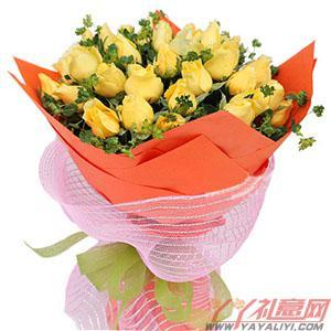 西安订花33枝黄玫瑰