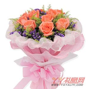 唯一 圣诞节同城配送11枝粉玫瑰