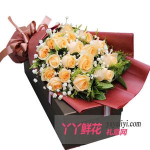 鲜花19朵香滨玫瑰礼盒
