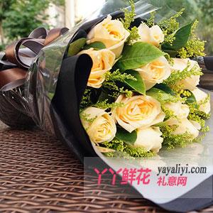 11朵香槟玫瑰在线预订