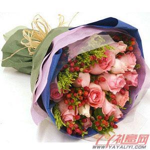 网上花店18枝戴安娜玫瑰(爱浪漫的人)