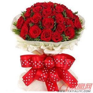 鲜花速递19支红玫瑰