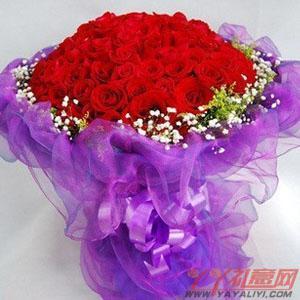 网上订花99支红玫瑰
