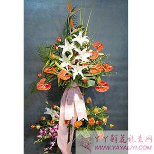 西安网上花店开业花篮订购单个花篮
