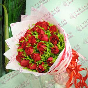 鲜花速递21支红玫瑰