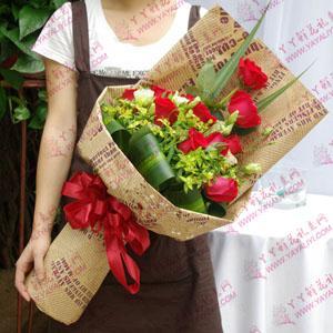 鲜花速递11支精品红玫瑰