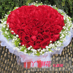 情有独钟 - 鲜花速递99朵红玫瑰