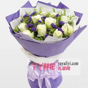 鲜花11枝白玫瑰