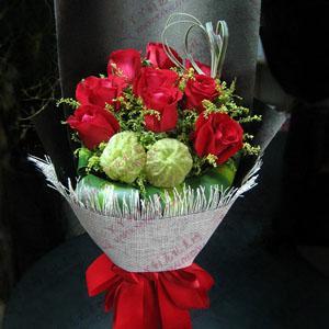 鲜花速递11支红玫瑰