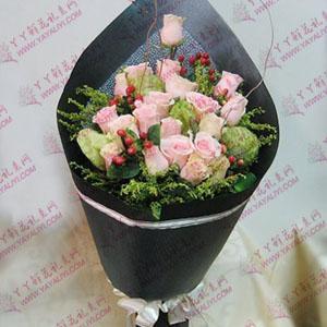 鲜花速递19支粉玫瑰(相思)