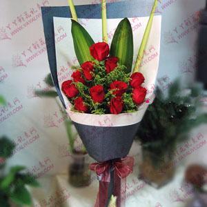 11支红玫瑰鲜花速递