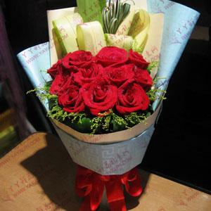 鲜花11支红玫瑰异地配送