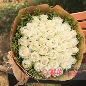 鲜花预订33支白玫瑰