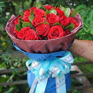 鲜花预订19支红玫瑰