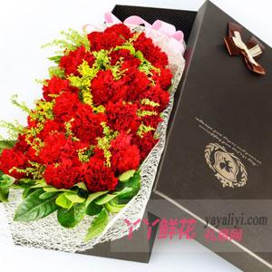 暖暖的爱 - 19支红色康乃馨礼盒