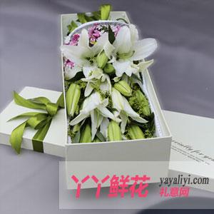 特价16支粉香水百合礼盒鲜花速递(神采飞扬)