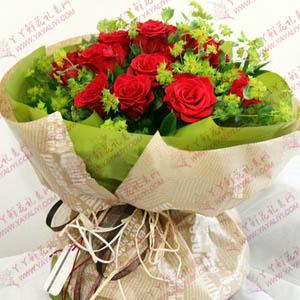 鲜花速递16支红玫瑰