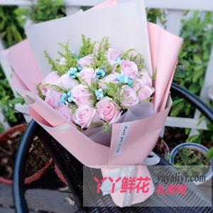 守护爱 - 鲜花速递19支粉玫瑰
