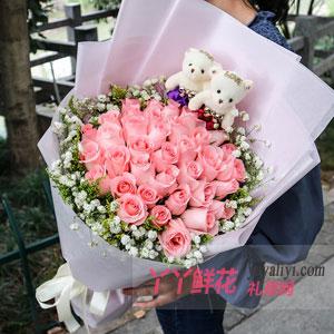 绵绵情话 - 鲜花33支粉色戴安娜玫瑰