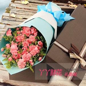 11支粉玫瑰11支康乃馨(远方的思念)