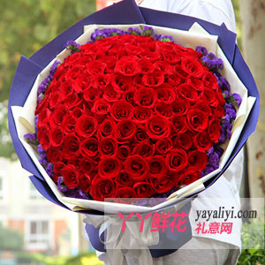 99支红玫瑰鲜花速递