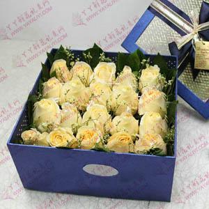 20支香槟玫瑰精美花盒