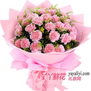 温情 - 19枝粉色康乃馨