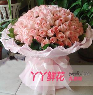 爱的呼唤 - 鲜花99枝戴安娜粉玫瑰